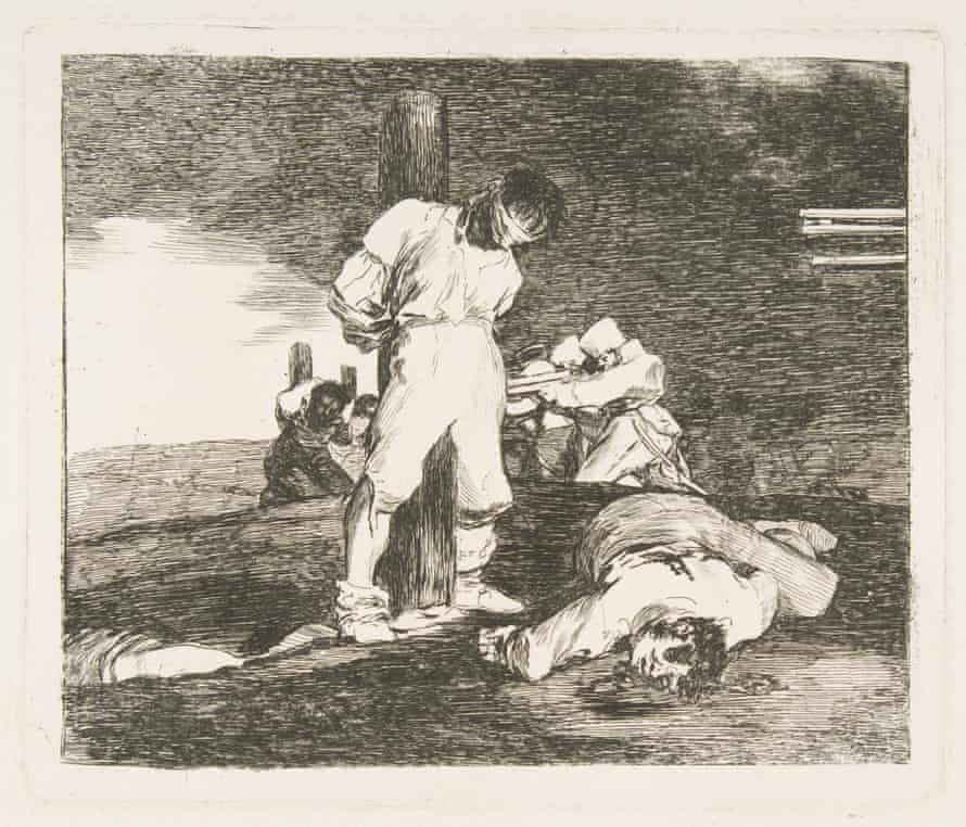 Dark pessimism … from Goya's series The Disasters of War: 'And there is no help'
