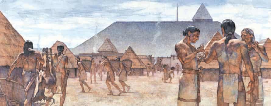 Illustration of people of Cahokia