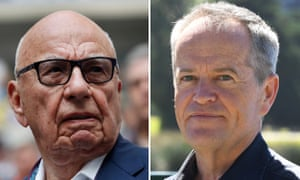 Media tycoon Rupert Murdoch (L) reportedly invited Australian opposition leader BIll Shorten to meet in New York, but the ALP leader has indicated he will break with a tradition of Australian political leaders courting Murdoch's favour.