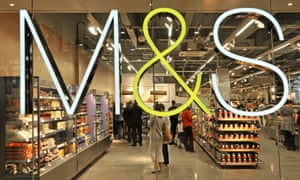 Looking in to an M&S food hall