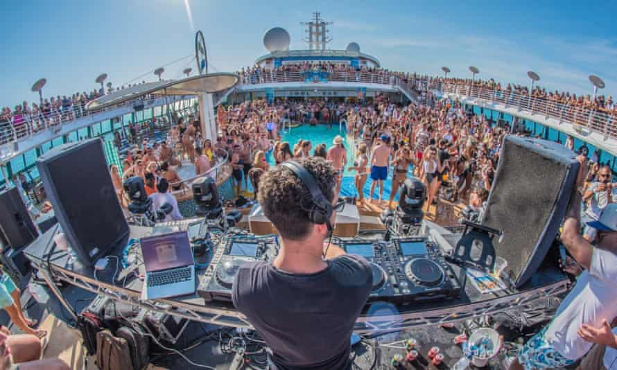 A pool party on the Anchored cruise