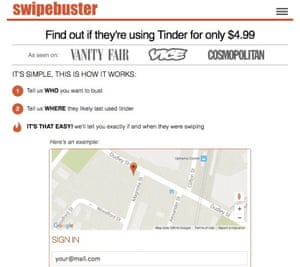 A screenshot of the Swipebuster website.