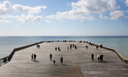 The recently reopened Hastings pier.