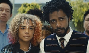Tessa Thompson and Lakeith Stanfield in a scene from Sorry To Bother You, made by Oaklanders and set in the city.