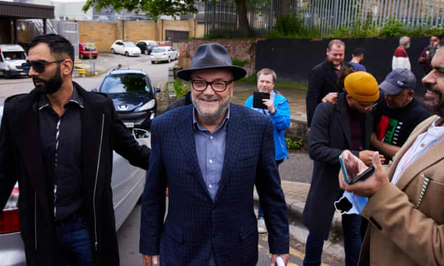 George Galloway in Batley today where he announced he is to contest the upcoming byelection.