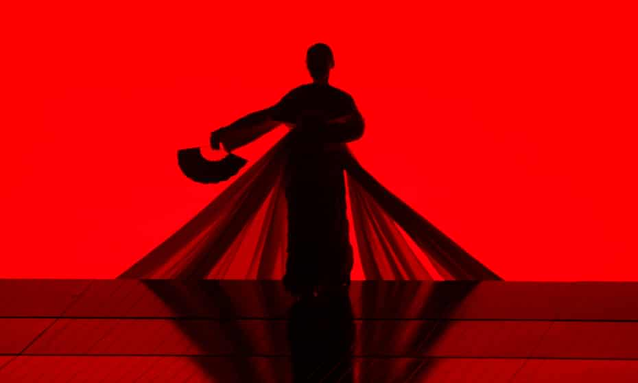 Red mist … a dancer in Anthony Minghella's 2006 Metropolitan Opera production.