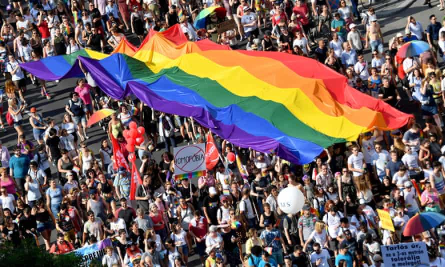 Budapest's last Pride march, in 2019, attracted 20,000 people. Organisers say this year's event will be much bigger.