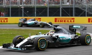 Hamilton led Rosberg throughout the Canadian Grand Prix.