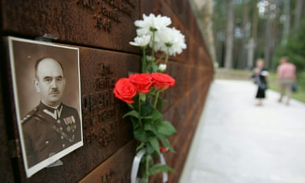 Portrait of an officer killed in 1940 by the NKVD, the USSR's secret police.