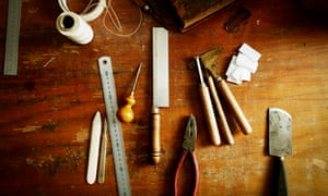 Bookbinding tools … every detail of the novel is bracingly specific and real.