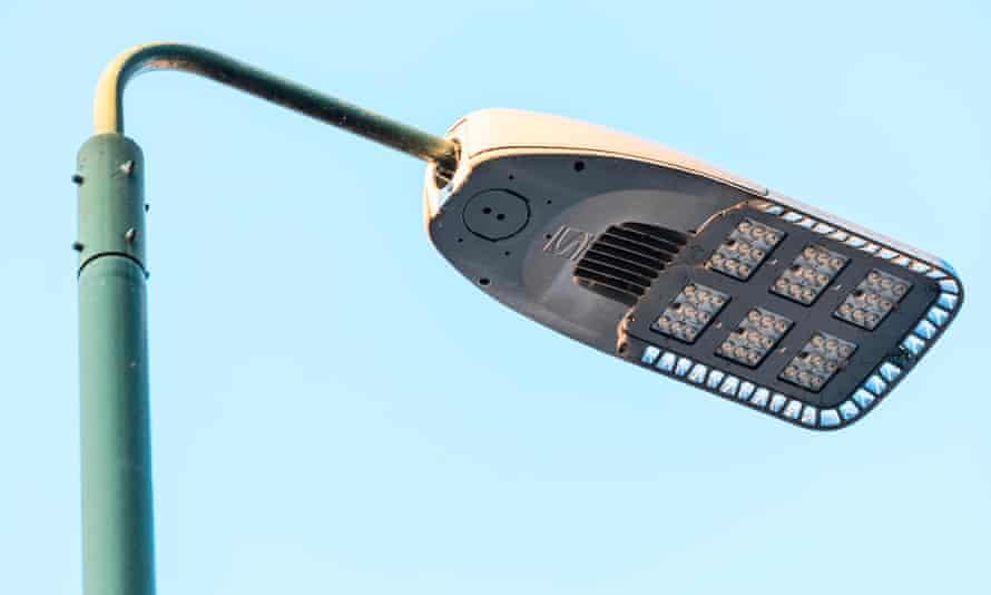An LED street light