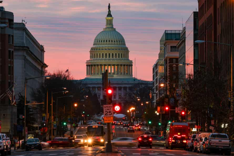 The US Capitol early on Monday morning. Most Americans can expect a $600 stimulus check from the government, half the amount distributed to individuals in the spring.