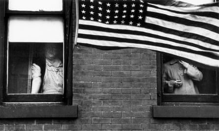 Parade, Hoboken, New Jersey, 1955, from The Americans.