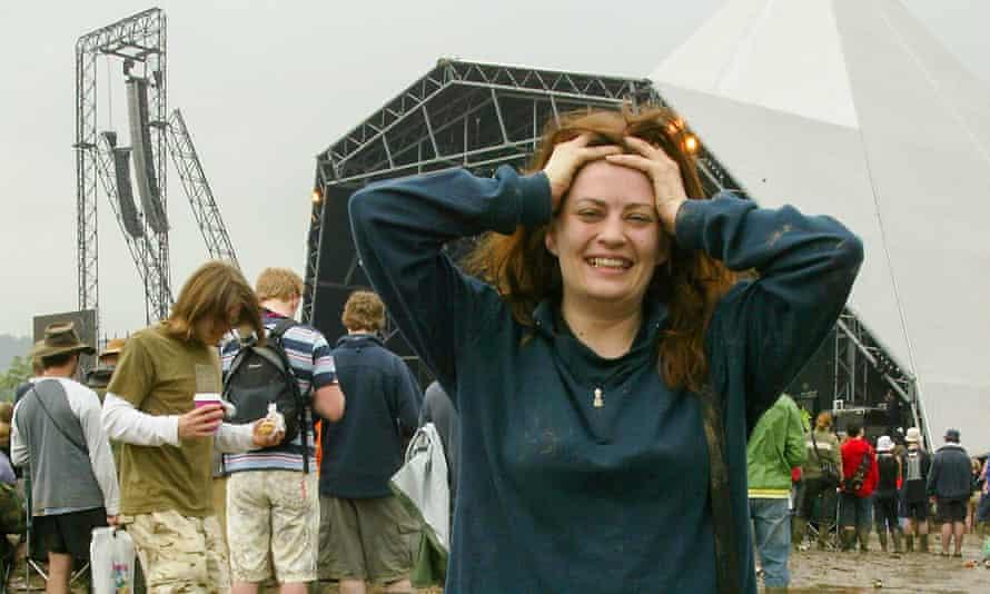 Sarah Hughes at Glastonbury in 2005