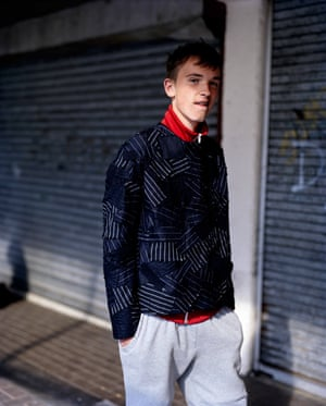 Jake, 16, Boxer, Newmarket Walk Wearing top by Matthew Miller