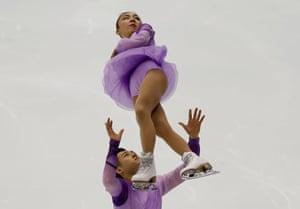 Sapporo, Free skaters Japan Narumi Takahashi and Ryo Shibata