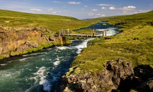Iceland's Upper Laxa river, with its world-class wild trout fishing.