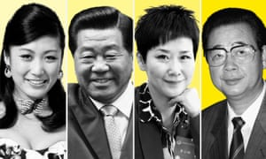 (Left to right) Jasmine Li, her grandfather Jia Qinglin, Li Xiaolin, and her father Li Peng.