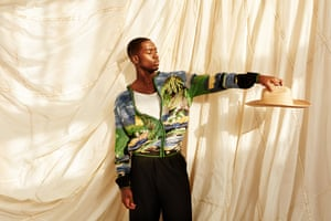 Actor and star of Snowfall, Damson Idris photographed for the Observer Magazine