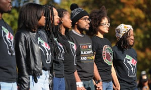 An anti-racist rally at the University of Missouri in 2015.