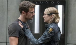 Sexy dullards ... Theo James and Shailene Woodley