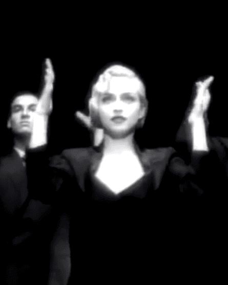 Madonna vogueing.