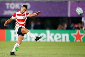 Japan's Yu Tamura converts the penalty.