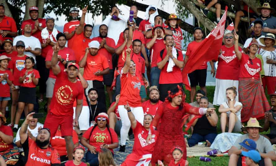 Supporters of Tonga
