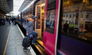 The TransPennine Express service at Leeds station