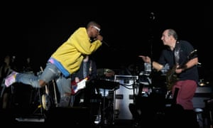 Pharrell Williams and The Lion King composer Hans Zimmer at Coachella in April