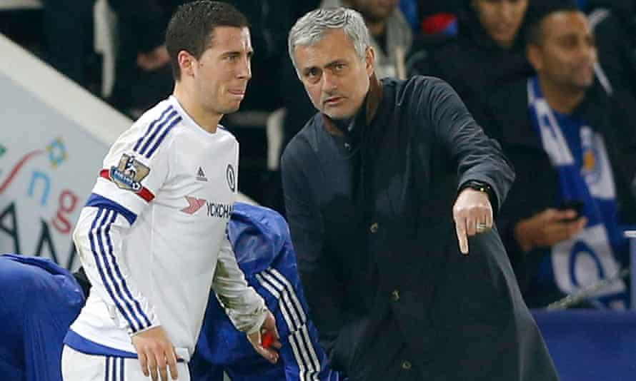 José Mourinho and Eden Hazard