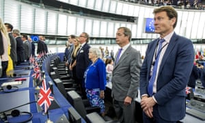 Brexit party MEPs in the European parliament