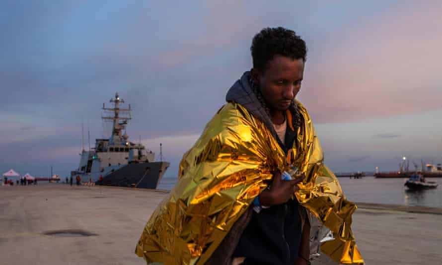 A migrant in the port of Augusta; nearly 200,000 have arrived in Sicily since 2006.