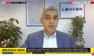 Sadiq Khan on Sky News this morning.