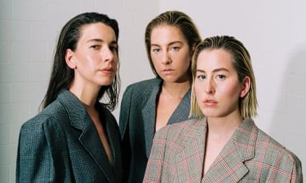 Haim fidelity: (from left) Alana, Este and Danielle
