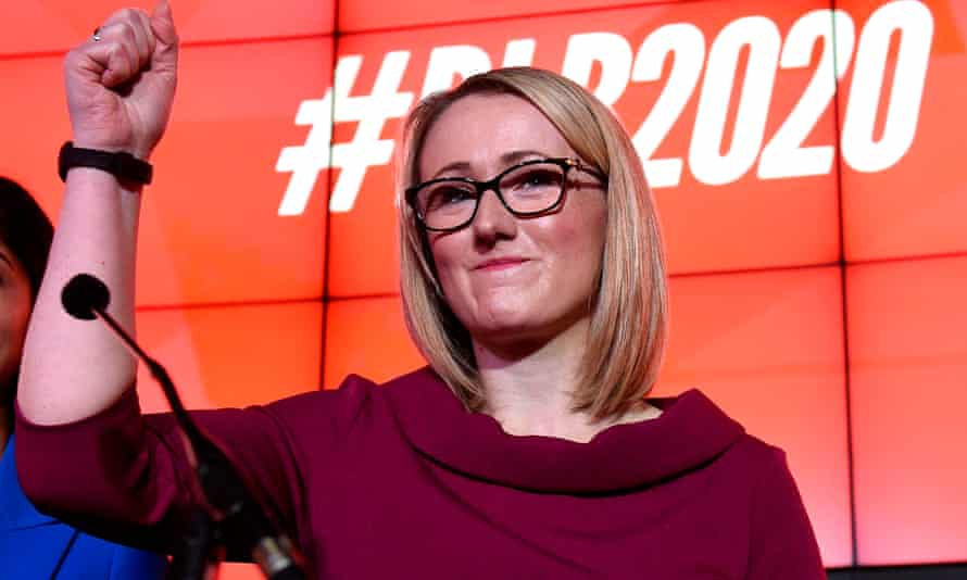 Rebecca Long-Bailey at a hustings event in Manchester.