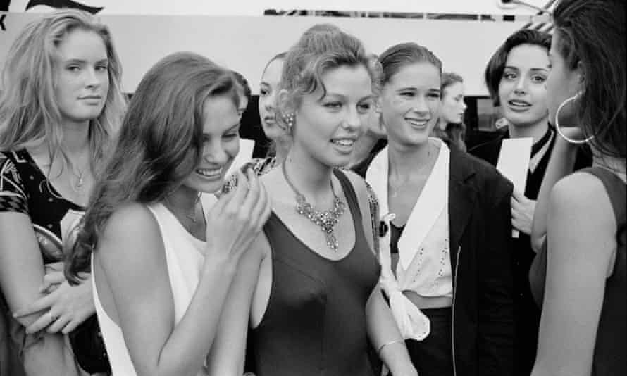 Shawna Lee (second from right) with other contestants at the 1992 Look of the Year competition