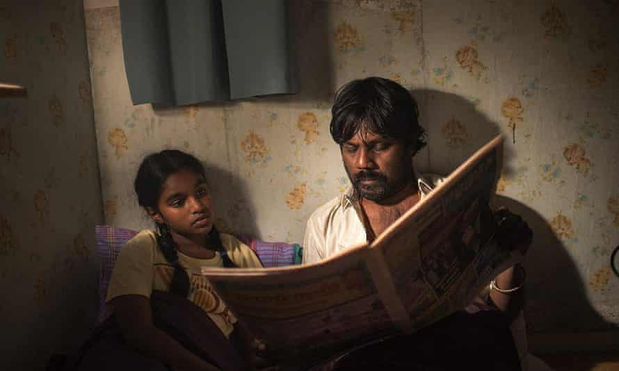 Dheepan and his daughter