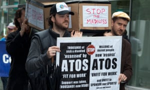 Protests against the ATOS contract and Work Capability Assessments. A study linked WCAs with an extra 590 suicides but the Department for Work and Pensions described the study as 'misleading'.