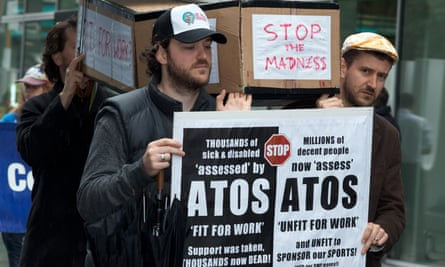 People protest against Atos