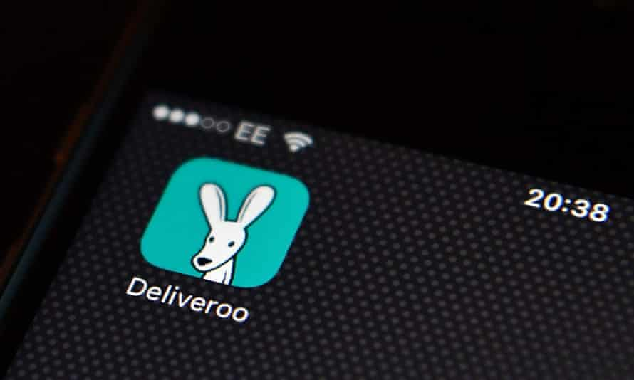 Deliveroo app on a phone