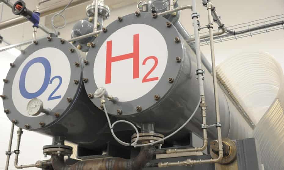 A hydrogen hybrid power plant in Wittenhofe, Germany.