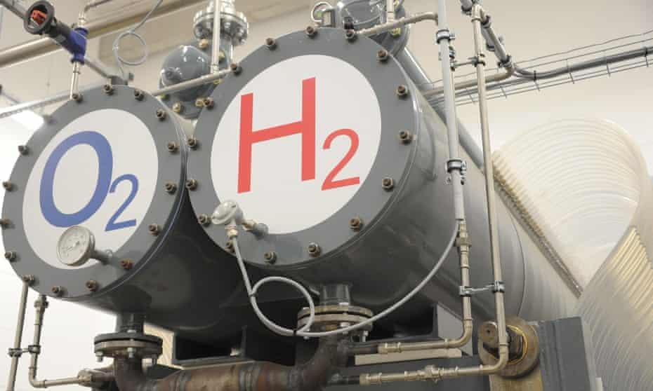 A hydrogen-hybrid power plant in Germany.