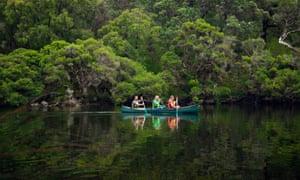 Canoeing on the Margaret River.