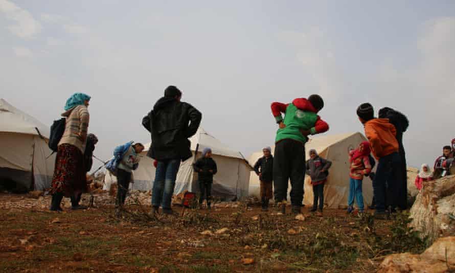 کودکان سوری در یک اردوگاه.