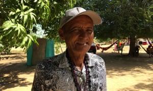 Oton Guimarães, the deputy chief of Vila Três Corações, an indigenous village that has taken in dozens of Venezuelan migrants.