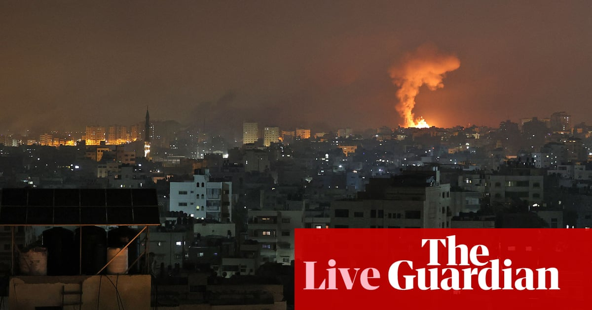 Israel's military says ground troops have begun to attack Gaza – follow updates
