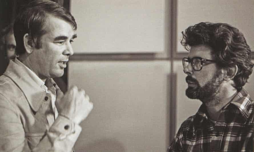 Alan Ladd Jr on set with Star Wars director George Lucas.