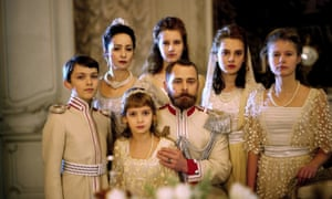 An elaborately choreographed procession of tableaux and set pieces ... Russian Ark.