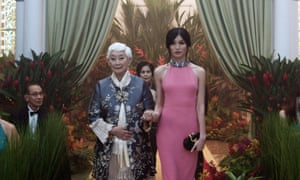 'In character I feel like I can do anything, but I'm naturally quite shy': with Lisa Lu in Crazy Rich Asians.